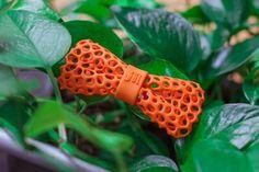Orange bow tie for stylish men - 3D printed bow tie - Organic by BitsTailor #orange #bowtie #organic #3dprinting  https://www.bitstailor.etsy.com/