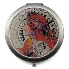 12 Zodiac Signs Compact Mirror - Design Glassware by Mont Bleu