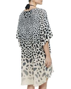Vanderbilt 3/4-Sleeve Cheetah-Print Caftan