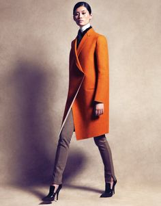 structured tangerine topper by Celine