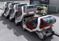 Stackable cars - Taxis of the Future!