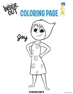 Inside Out Coloring Pages Free Downloads For Kids InsideOutEvent