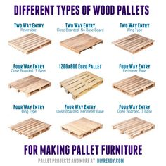 different types of wood pallets