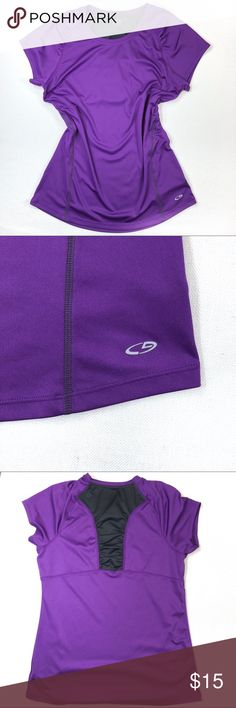 Champion Purple Athletic Top Champion • Purple • Gray Mesh • Athletic • Top • Size L  Condition • Gently Used Champion Tops