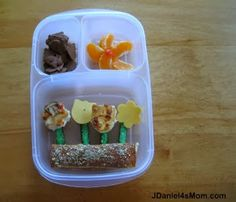 Mom: {Earth Day Lunch} Leftover Signs of Spring Kids Lunch For School, Healthy School Lunches, School Snacks, Food To Go, Good Food, Fun Food, Food Art, Cold Lunches, Lunch Snacks