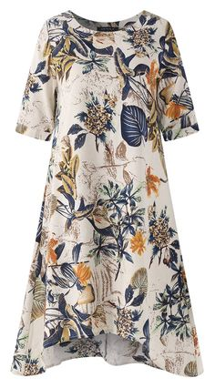 UP TO 50% OFF! Women Floral Printed Short Sleeve Vintage Dresses. SHOP NOW!