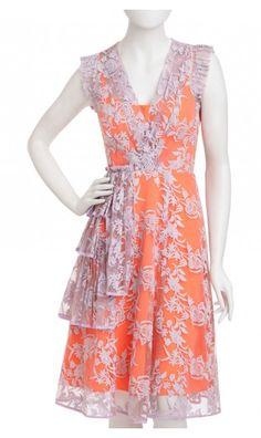 Love the orange slip. Super cute with the lilac lace.