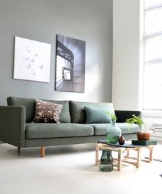 SVEV Sofa 245 Wooly 3 Bottle green