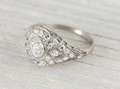 .40 Carat Antique Vintage Engagement Ring