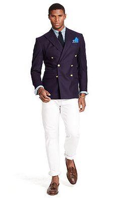 Polo Doeskin Wool Sport Coat - Polo Ralph Lauren Blazers - Ralph Lauren UK  Great combo and love this look