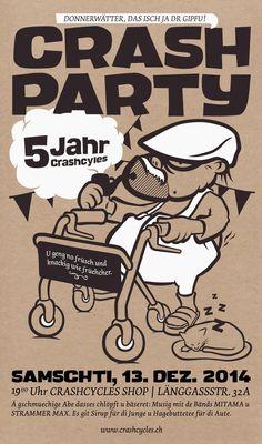 Crashcycles Plakat - Illustration & Siebdruck - Herr Bürli