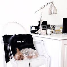 15 Things You'll Find In EVERY Fashion Girl's Apartment #refinery29  http://www.refinery29.com/fashion-home-decor-items#slide-14  The Ghost Chair  It's the ideal place to hang all of the dresses you tried on this morning, but decided weren't going to cut it. Well-staged animal (see: slide 11) another bonus.
