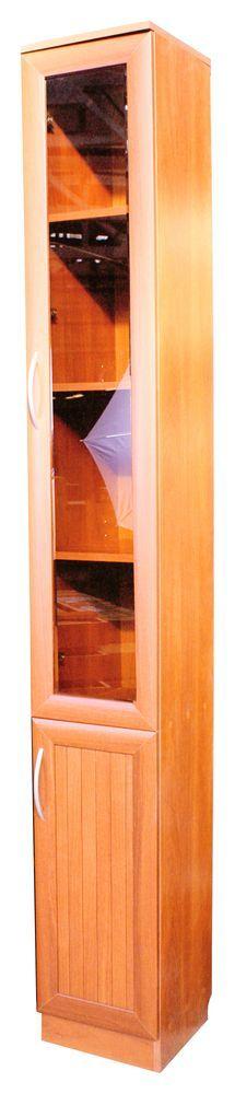 Шкаф Верона-2 (вишня) 0,4*0,3*2,2 тонированное стекло ZK