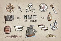 Pirate Illustrations by @Graphicsauthor