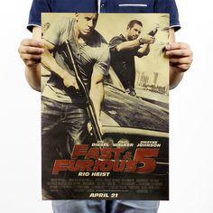 Fast & Furious 5 Vintage Paul Walker Vin Diesel Movie Poster  #fastandfurious #paulwalker #vindiesel
