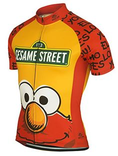 Elmo Loves You Muppets Sesame Street Cycling Jersey by Brainstorm Gear Womens Small Short Sleeve >>> Want additional info? Click on the image.