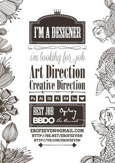 Awesome  resume Designer,   handicraft by Дмитрий Ерофеев, via Behance: