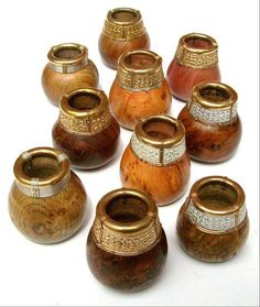 Reproduction Sutton Hoo Mound drinking vessels by 'Ganderwick Creations'. Wulfheodenas Facebook.
