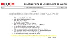 Festivos 2020 en la Comunidad de Madrid. Calendario Escolar 2019-2020 Madrid #calendrioescolar School Holidays, School Calendar, Fiestas