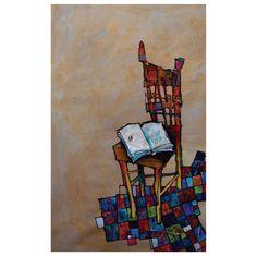 El valor del conocimiento. Acrílico y collage sobre lienzo. 2008.