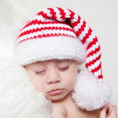 Striped Elf Baby Stocking Cap for Baby and Toddlers - Boys and Girls 621bffc06ce6