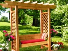 diy arbor with bench