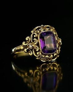 Antique Rings for sale | Russian Siberian Amethyst Ring, 1904-1908 | Russian Jewelry