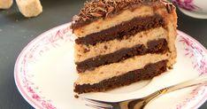 A gesztenyés csokitorta alapja hihetetlenül lágy, a krém pedig ellenállhatatlan. Hungarian Recipes, Hungarian Food, Cake Cookies, Tiramisu, Fondant, Tart, Xmas, Baking, Ethnic Recipes
