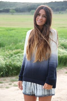 Degradé + Degradé, pullover, long hair, ombre hair, tie dye, trend, gossips made me famous