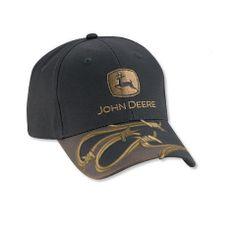 John Deere Black Cap With Barbed Wire Visor Accent – GreenToys4u.com