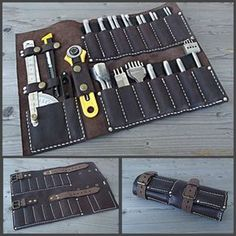 Tool roll made of leather. Tool roll made of leather. - Tool roll made of leather. Tool roll made of leather.