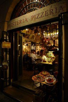 Rome, Italy. 로마 거리 음식점 풍경