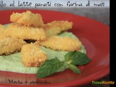 Bocconcini di pollo al latte panati con farina di mais  #ricette #food #recipes