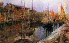 L'Ottocento - Canale a Chioggia - LUDOVICO CAVALERI