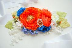 Bridal flower sash.