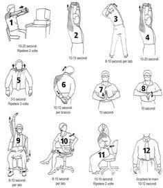 Esercizi di stretching da fare in ufficio >>> http://www.piuvivi.com/salute/distendere-muscoli-scrivania-computer-ufficio.html <<<