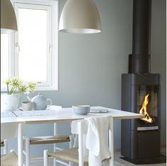 Bilderesultat for minty breeze Jotun Lady, Ideas Prácticas, Decor Ideas, Wonderwall, Modern Kitchen Design, Wall Colors, Paint Colours, Coastal Living, Scandinavian Style