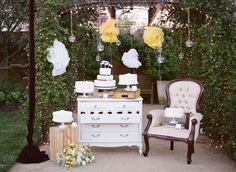 Rustic Chic Glamorous Wedding - Dessert Table Ideas - Outdoor Furniture Decor