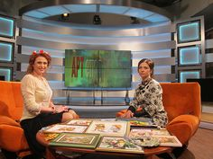 Tatiana Popova granting an interview to National TV channel regarding her silk ribbon embroidery (www.sovushka.com.ua)