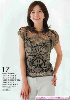 Bonita blusa con motivo circular central