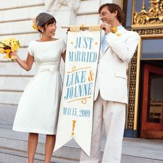 The fabled streets of San Francisco come alive as a fashion stylist and a furniture maker tie the knot at City Hall and throw a stylish, unique wedding with an awe-inspiring (point of) view.