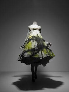 Spray paint dress by Alexander McQueen