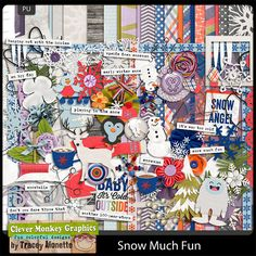 Snow Much Fun by Clever Monkey Graphics - Digital scrapbooking kits available through Oscraps, GingerScraps, or MyMemories