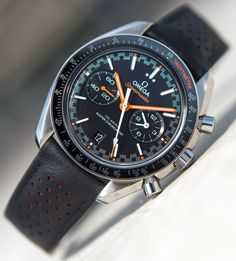 he Omega Speedmaster Racing Master Chronometer reference is the mod Dream Watches, Luxury Watches, Cool Watches, Watches For Men, Wrist Watches, Men's Watches, Omega Speedmaster Racing, Seiko Mod, Watch Master