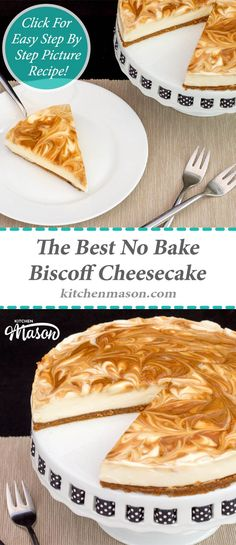 This Crazy Easy To Make No Bake Biscoff Cheesecake Is ~ this crazy . - This Crazy Easy To Make No Bake Biscoff Cheesecake Is ~ this crazy, easy-to-bake biscoff - Easy No Bake Cookies, Easy No Bake Desserts, Easy Baking Recipes, Fun Easy Recipes, Best Dessert Recipes, Sweet Recipes, Yummy Recipes, Cheesecake Recipe Uk, Biscoff Cheesecake