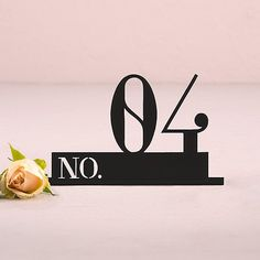 """Unique modern black """"Block Style"""",  acrylic wedding reception table numbers. Your wedding guests will know where to sit with these contemporary wedding table numbers."""