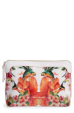 Ted Baker London 'Small Tropical Toucan' Cosmetics Case available at #Nordstrom