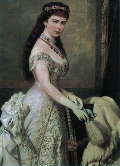 """Portrait of Elisabeth """"Sissi"""", Empress of Austria and Queen of Hungary, Romy Schneider, Austria, Die Habsburger, Empress Sissi, Kaiser Franz, Reine Victoria, Herzog, Jolie Photo, European History"""