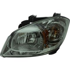 2005-2010 Chevy Cobalt Head Light LH, Composite, Assembly, Halogen, Smoked Lens