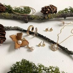 Some new pieces for Autumn/fall Pearl Diamond, Autumn Fall, Swan, Handmade Jewelry, Drop Earrings, Swans, Handmade Jewellery, Jewellery Making, Drop Earring